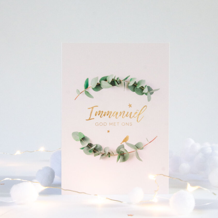 Wenskaart Kerst - Immanuël