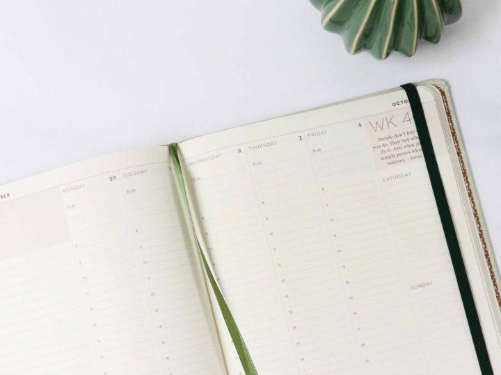 Zo maak je een gezonde agendaplanning