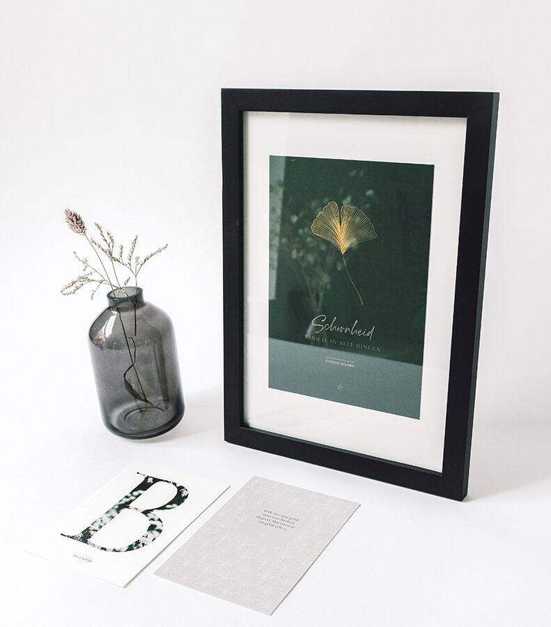 Essencio posterset Eerste essentie - stijlvolle poster-set - Zoek niet naar geluk maar naar betekenis en groei 23