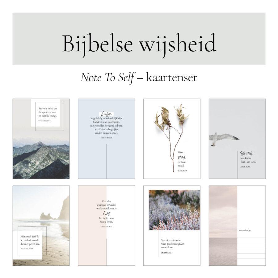 Note To Self kaartenset affirmatie kaarten Bijbelse wijsheid spreuken en zinnen
