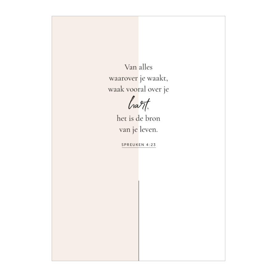 Essencio - Affirmatieposter - Waak over je hart