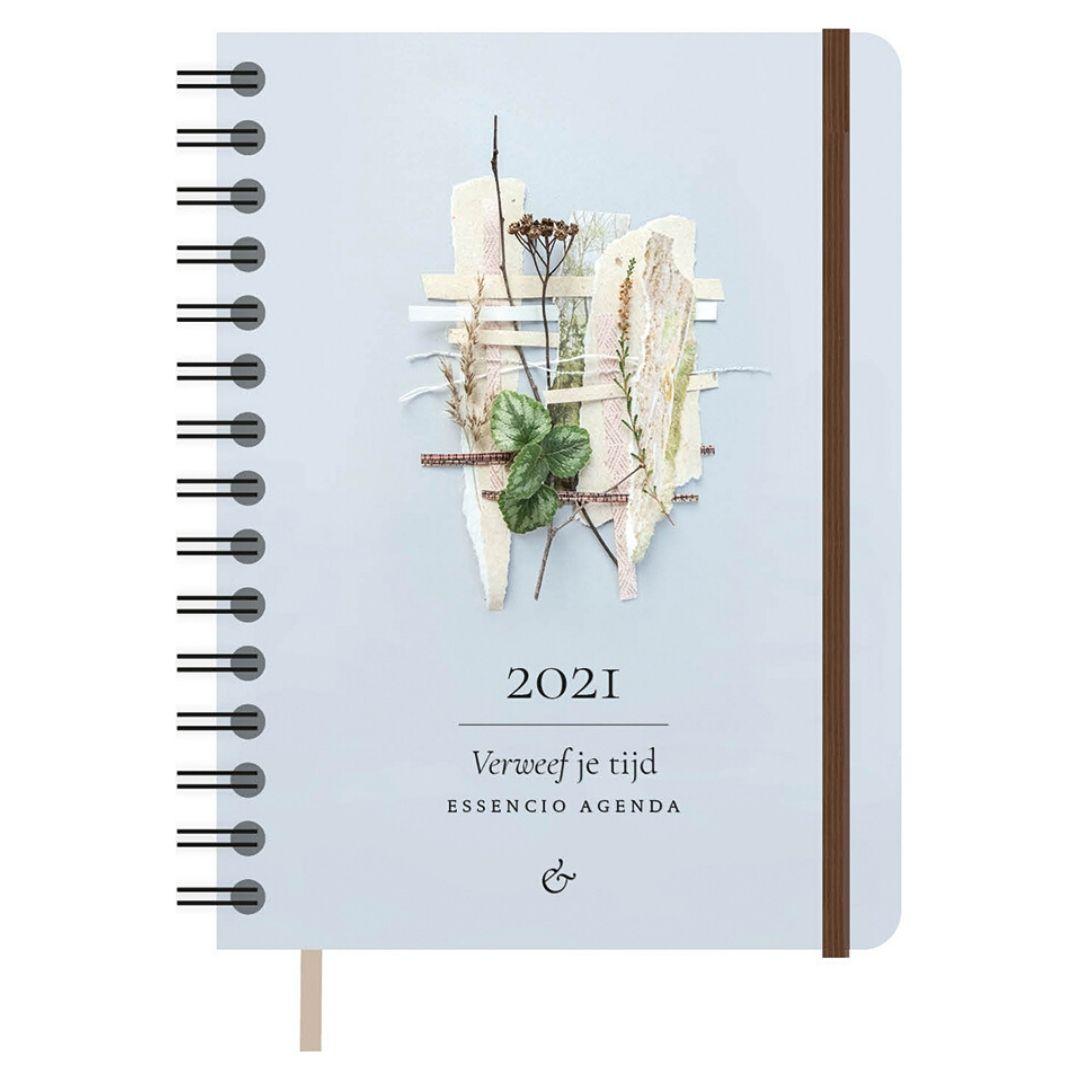 Essencio Agenda Groot A5 - Stijlvolle lifestyle agenda met natuur foto's collages inspirerende teksten quotes en beelden - Verweef je tijd