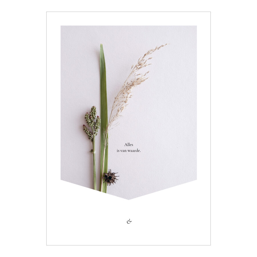Essencio Verweven miniposter A5 - Alles is van waarde